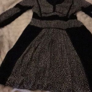 Stunning Burberry leopard print dress. EEUC size 6